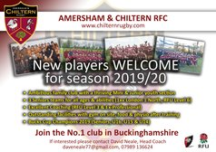 New Players Welcome for the 2019/20 season