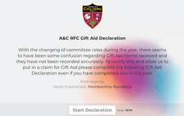 Gift Aid Declarations