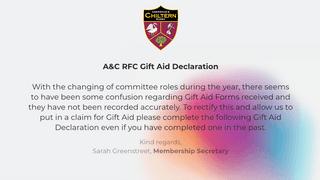 Gift Aid Declarations