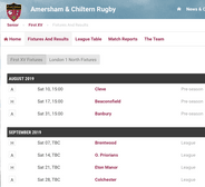 2019/20 Season First XV fixtures now live