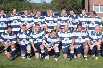 The Victorious 1st team, after Harbury win
