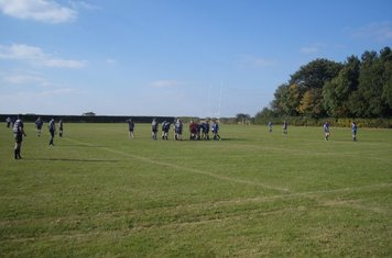 2nds on 3rd pitch v Rugby St Andrews