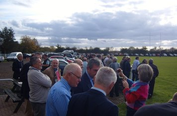 A good crowd for Rex's Birthday and the League Match v Old Leams
