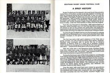 1987 - 25th Anniversary game program Club History Page 1