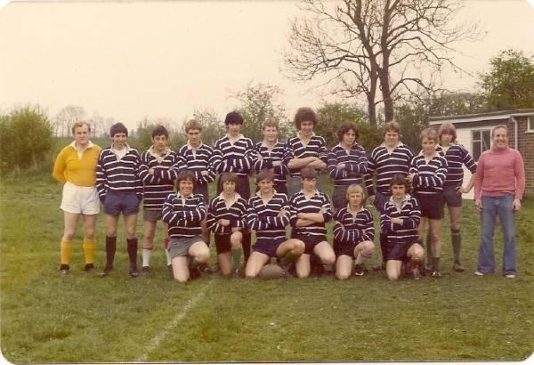 Colts 1979?? (back row left) ref, A?, M?, G Pearson, ??, C Shepherd, S Rawbone, B Hooker, K Huck, K Stirling, ??, Ray Gubbins (front row left) G Gilkes, ??, N Clarke, T Warr, ??, ??