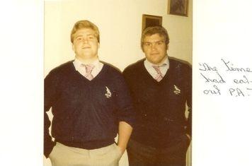 80s - Pete and Kev Huck Earning Pink Ties