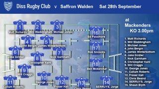 Diss RFC v Saffron Walden RFC