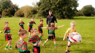 Alex Crocker visits Bingham Mini Rugby