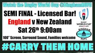 RWC Semi Final England v New Zealand