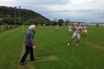 Rita McCullagh starts the Gerry McCullagh memorial game