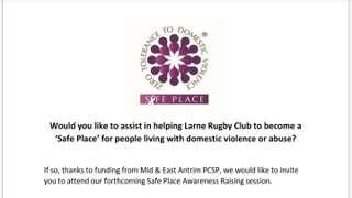 Safe Place Domestic Violence Information Evening