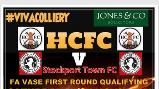 Match Preview ahead of Saturdays home FA Vase tie V Stockport Town