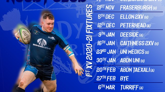 Fixtures revealed for 2020/21 rugby season