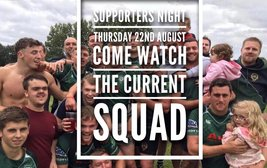 SUPPORTERS NIGHT  THURSDAY 22nd AUGUST