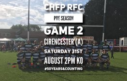 SAT 31st AUGUST - CIRENCESTER AWAY