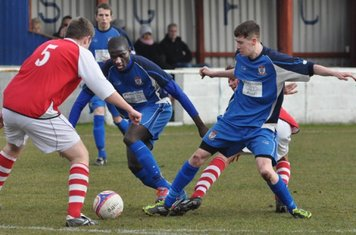 Max Rothwell and Saydou Bamber in the thick of the action
