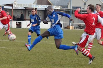 Saydou Bamber just misses by inches