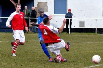 Saydou Bamba beats tackle to score Gate's first Goal