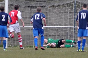 Dave Rogerson caps a good day and clean sheet, with this penalty save