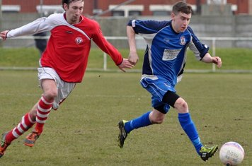 Max Rothwell having a good debut, as he out paces the defenders