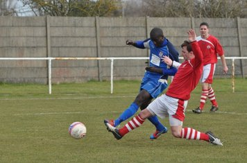 Saydou Bamba gets a cross in but it was deflected by the defenders tackle