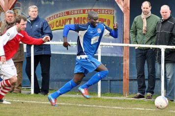 Saydou Bamba shows a clean pair of heels as he races down the wing, before crossing the ball