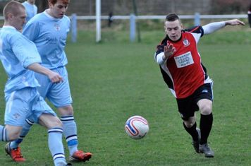 Alex Ralph trys a shot at  Maine Road