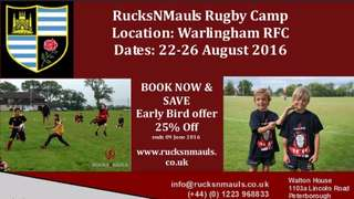 Rucks 'N' Mauls summer camp at WRFC