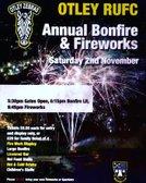 Bonfire Night -  Saturday 2 November