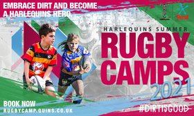 Don't Miss our Harlequins Summer Camp