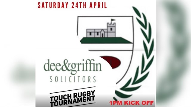 THE DEE&GRIFFIN TOUCH TOURNAMENT TEAMS ARE LOCKED IN