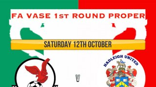 Saturday 12th October FA Vase Matchday Programme