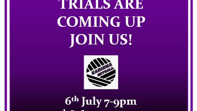 Recruiting new players - Trial dates 2021/22 season
