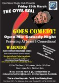Eton Manor Presents The Oval Ball Goes Comedy