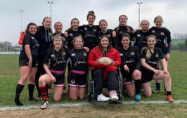 Harborough U18 Girls put on a great display of running rugby