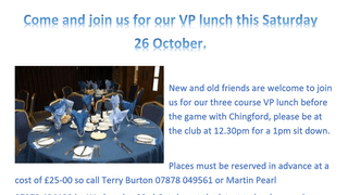 Come and join us at our VP lunch  this Saturday, all are welcome.