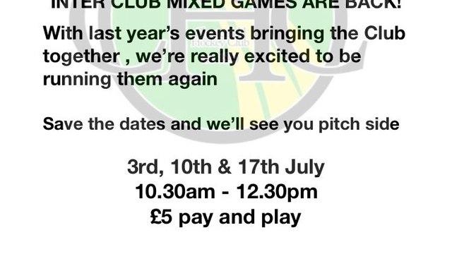 Club mixed summer hockey is back