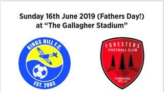Charity Match -  Kings Hill FC U16's v's Tunbridge Wells Foresters FC U16's -
