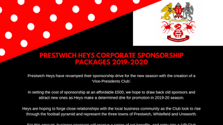 "HEYS  UNVEIL NEW ""VP CLUB"" CORPORATE SPONSORSHIP PACKAGES FOR 2019-2020"