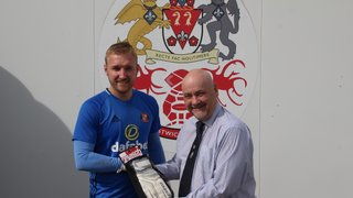 Russell Saunders receives Reusch Division One North Goalkeeper of the Month