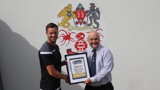 Heys presented with Macron Division One North Club of the Month Award