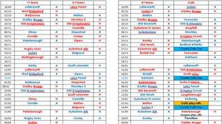 Seniors Fixtures 2019/2020