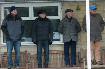 The  Shortwood faithful in their temporary 'stand.'