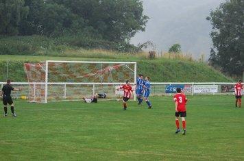 Wood's first goal scored by Scott Evanson
