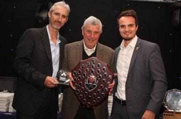 Chris Bishop receiving the Umpires Award - 2015
