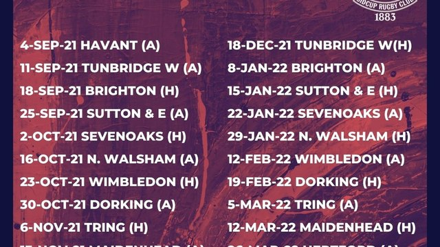 1st XV Fixtures are released