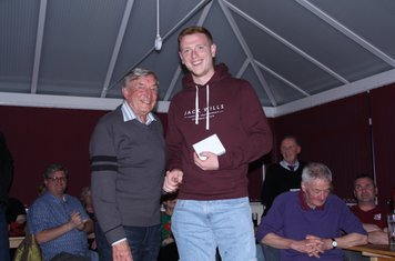 Presedents Player of the Year Wayne Hughes presented by Roy Shirley
