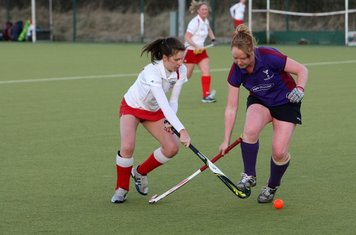 Ladies 1s in action against Huddersfield Dragons