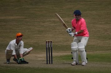 Jordon Banks In Action, Batting For The Chestnut Horse Against The Cricketrich Allstars