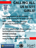 Girls DC - Camps only until 18th April